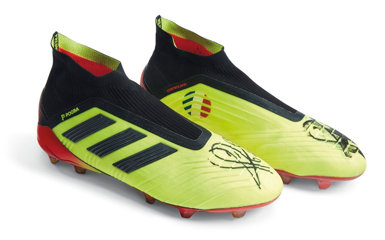 228d4f6d0a30 This pair of boots was worn by Paul Pogba in the 2018 World Cup final.