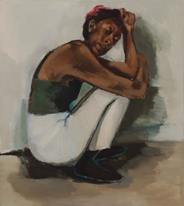Lynette Yiadom-Boakye. Radical Trysts. 2018. Oil on linen. Courtesy Corvi-Mora, London and Jack Shainman Gallery, New York. Photo © Marcus Leith