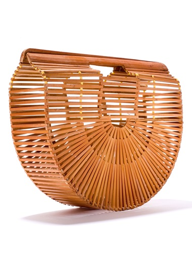 Bamboo and wood handbag, 1970-1979. In 2016 a young brand called Cult Gaia debuted a bamboo bag that quickly became the summer 'It-Bag'. Although the production of bamboo bags is a centuries-old Japanese tradition, it cannot be said with certainty that this design is of Japanese origin. The majority of vintage bags with a similar design to the Cult Gaia bag come from the 1960s and