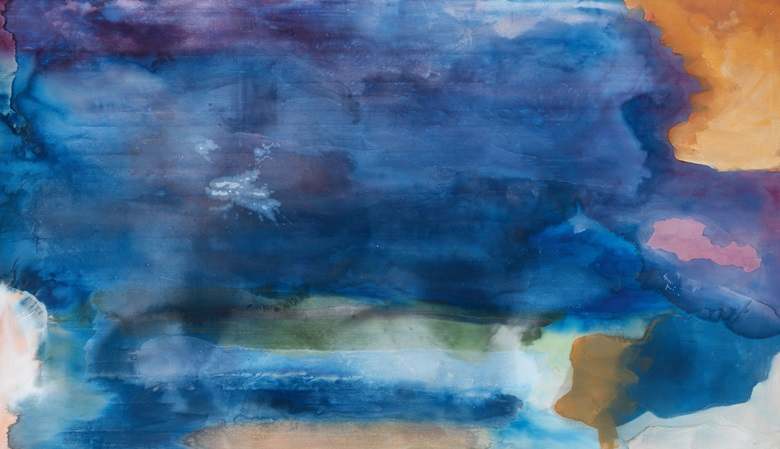 Helen Frankenthaler (1928–2011), Riverhead, 1963. Acrylic on canvas, 82¼ x 143 in (208.9 x 363.2 cm). © 2019 Helen Frankenthaler Foundation, Inc.Artists Rights Society (ARS), New York. Photo Rob McKeever, courtesy Gagosian