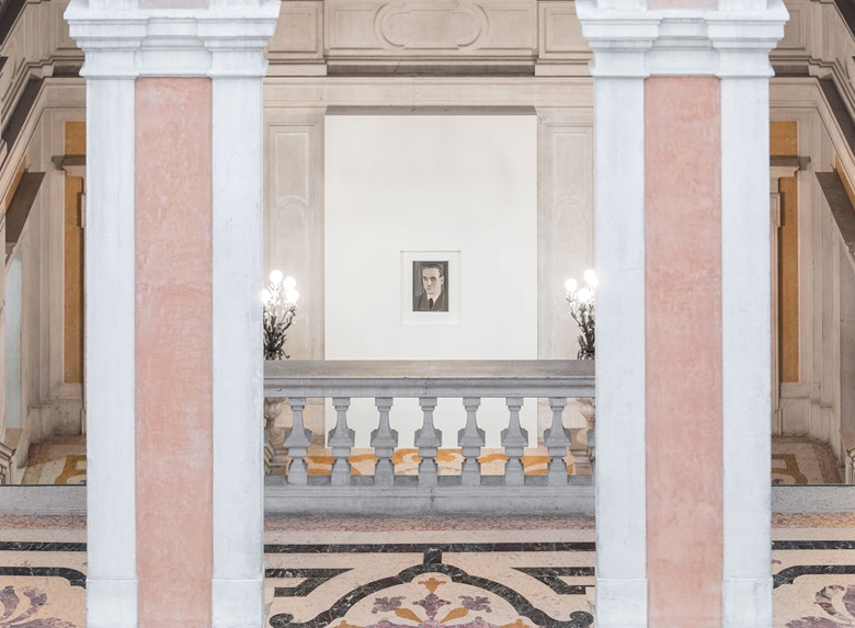 Luc Tuymans, Secrets, 1990. Private Collection, Courtesy Zeno X Gallery, Antwerp. Installation view at Palazzo Grassi, 2019. © Palazzo Grassi, Photography by Delfino Sisto Legnani e Marco Cappelletti