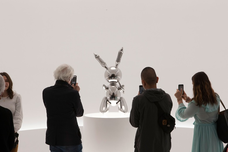 The 'irrepressible, inescapable shine' of Koons's Rabbit  has, says Gopnik, 'come to stand for retrograde and forbidden pleasures'. Artwork © Jeff Koons
