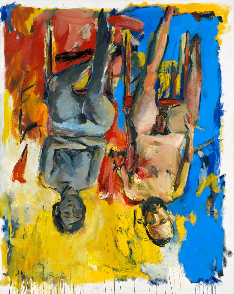 Georg Baselitz (b.1938), Schlafzimmer (Bedroom), 1975. Oil and charcoal on canvas. 98½ x 78¾ in (250 x 200 cm). Courtesy of Georg Baselitz Treuhandstiftung