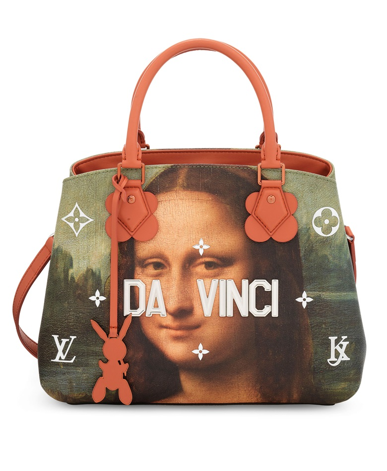 24c8bf2ac8ca A limited edition Da Vinci leather Masters Montaigne with silver & copper  hardware by Jeff Koons