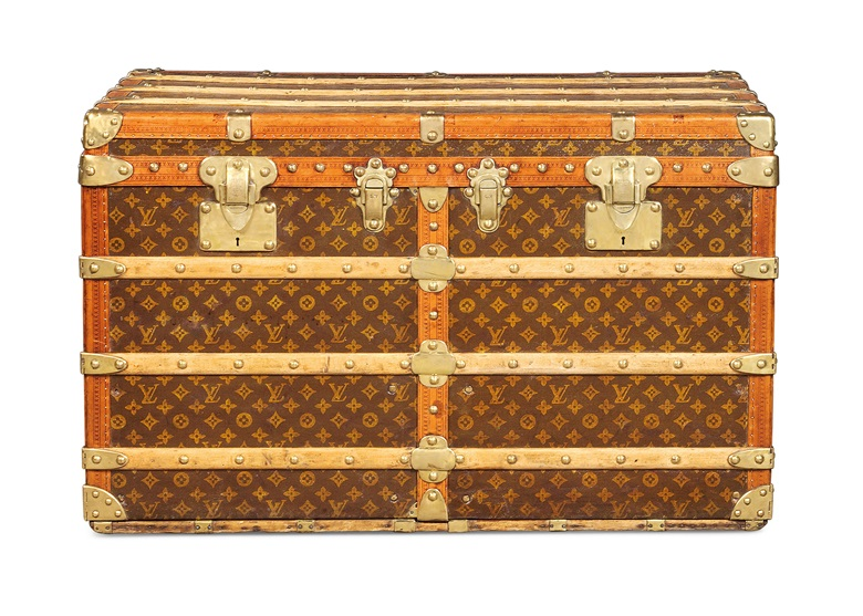 A monogram canvas drawer trunk, Louis Vuitton, 1910-1920. 90 w x 58 h x 53 d cm. Sold for £16,250 on 11 June 2019 at Christie's in London