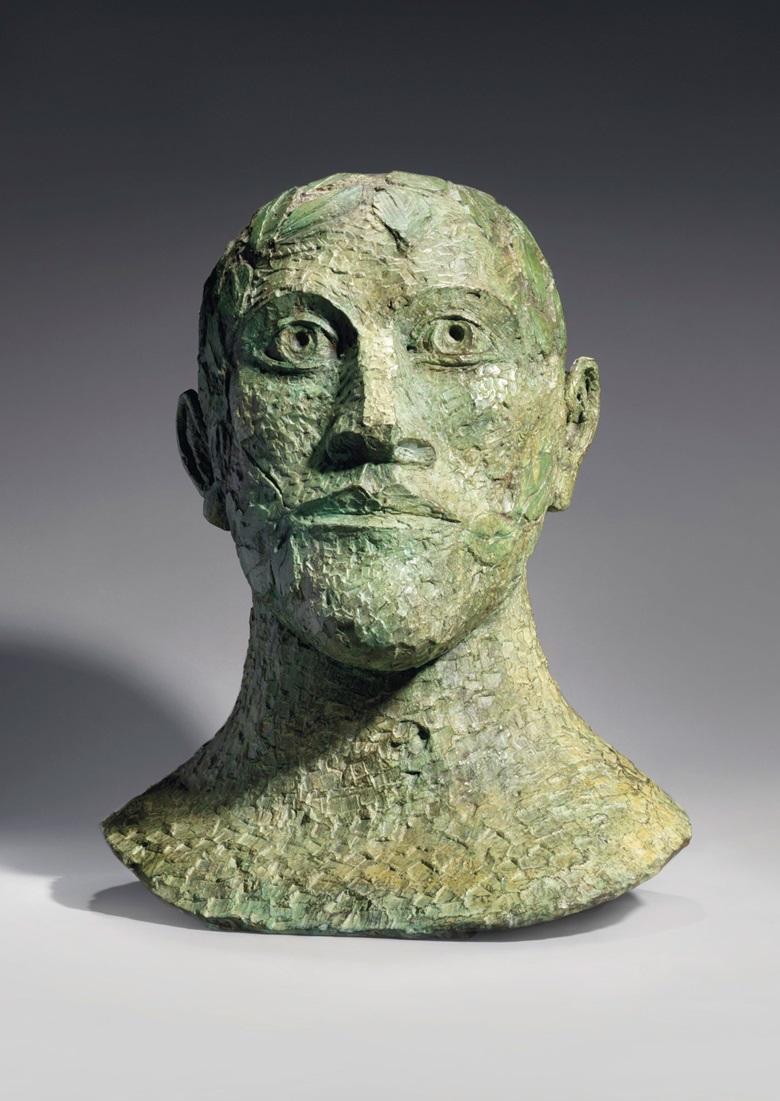 Dame Elisabeth Frink, R.A, Green Man, 1991. Bronze with a green patina, 23 in (58.5 cm) high