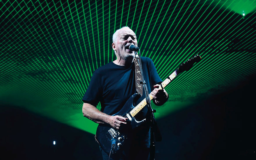 David Gilmour performing live at The Royal Albert Hall in London, 23 September 2015, for the 'Rattle That Lock' solo album tour. Photo by Roger Goodgroves Shutterstock