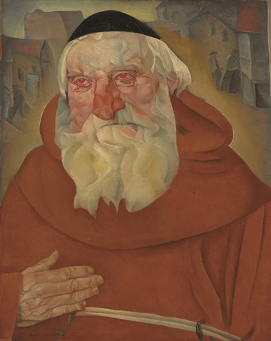 Boris Grigoriev (1886-1939), The Monk, 1922. Oil on canvas. 31½ x 25¼  in (80 x 64.1  cm). Sold for £713,250 on 6 June 2011 at Christie's in London