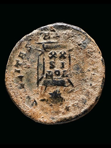 Minted in Trier in Germany between 321-324, the coin provides a date after which the hoard must have been buried