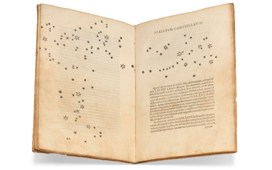 Galileo Galilei (1564-1642) Sidereus Nuncius. Venice, 1610, quarto (231 x 158mm) Estimate £300,000-500,000. Offered in Important Scientific Books from the Collection of Peter and Margarethe