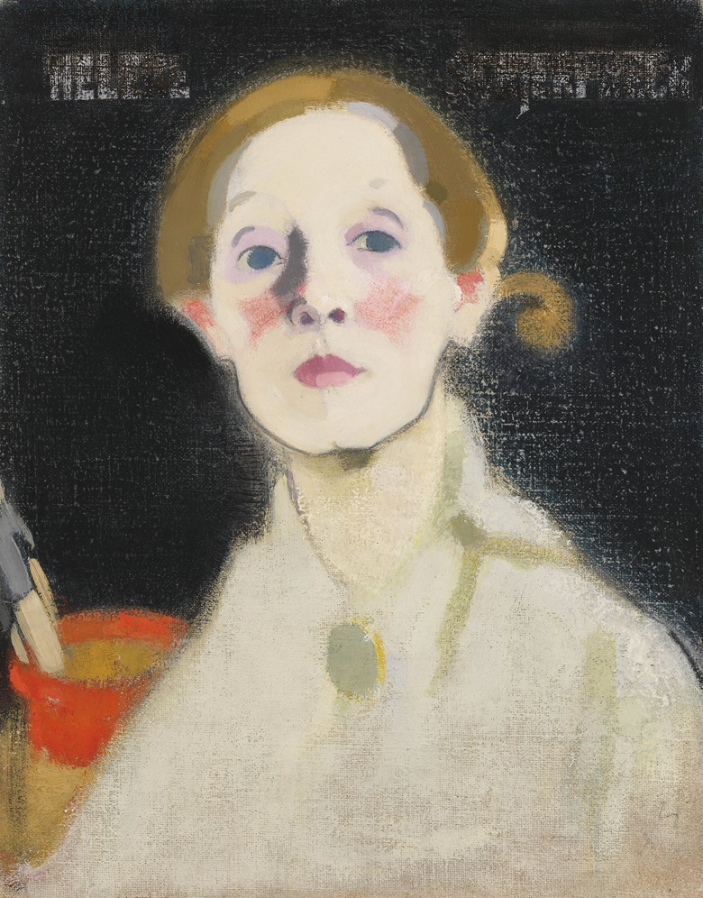 Helene Schjerfbeck, Self-portrait, Black Background, 1915. Oil on canvas, 45.5 x 36 cm. Herman and Elisabeth Hallonblad Collection. Finnish National Gallery  Ateneum Art Museum. Photo Yehia Eweis