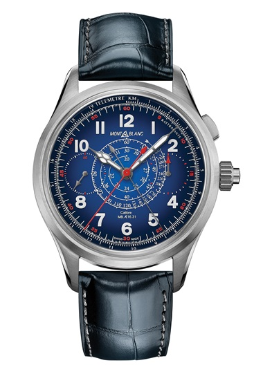 Montblanc. 1858 Split Second Chronograph. In the spirit of mountain exploration, Montblanc reinterprets an historical Minerva military monopusher chronograph from the 1930s with the one-of-a kind 1858 Split Second Chronograph Only Watch 2019. Sold for CHF 100,000 in Only Watch on 9 November 2019 at Hotel des Bergues in Geneva