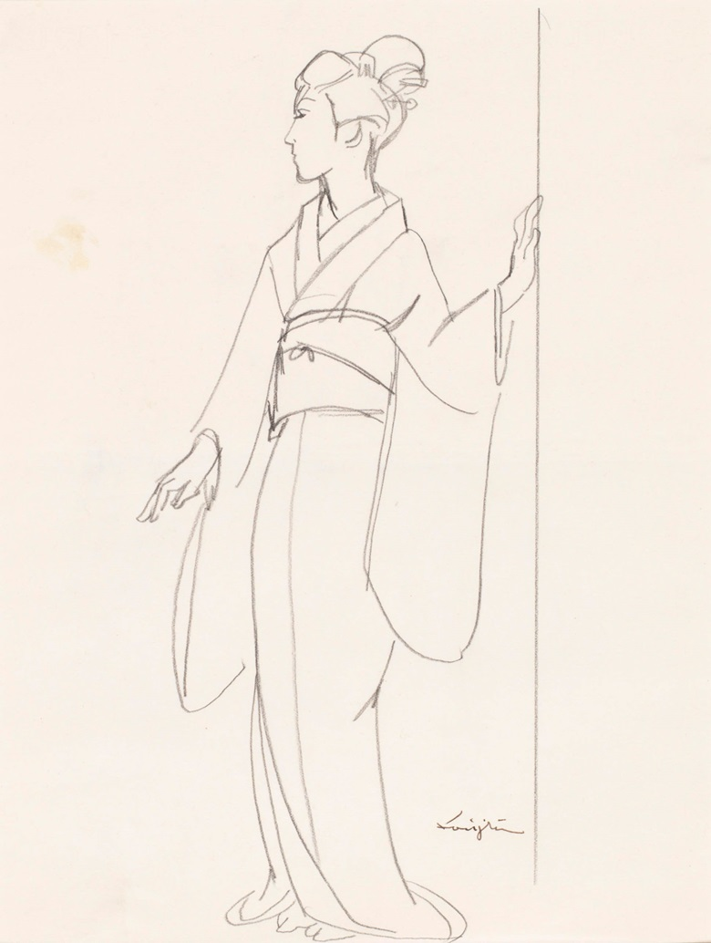 Léonard Tsuguharu Foujita (1886-1968), Untitled (L'attente). Lead on paper. 26.4 x 20.2 cm (10.4 x 7.9 in). Estimate $1,500-2,500. Offered in Contemporary Art Asia Including a Collection of Works by Léonard Tsuguharu Foujita, Online 18-25 September