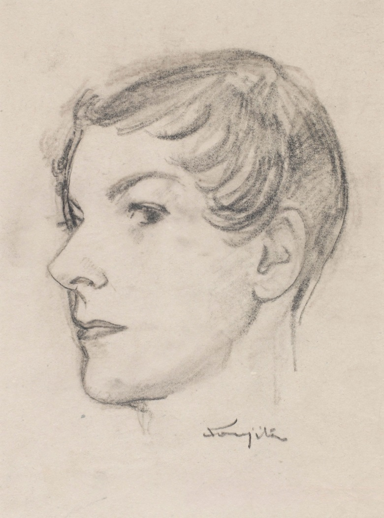 Léonard Tsuguharu Foujita (1886-1968), Untitled, (Visage de femme). Lead and stump on paper. 21 x 15.5 cm (8.3 x 6.1 in). Estimate $2,000-3,000. Offered in Contemporary Art Asia Including a Collection of Works by Léonard Tsuguharu Foujita, Online 18-25 September