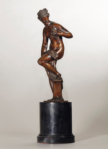 A bronze figure of Venus drying herself, from a model by Giambologna (1529-1608), the cast attributed to Antonio Susini (1558-1624), circa 1585-1600. Sold for £1,058,500 on 10 July 2014 at Christie's in London