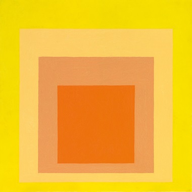 Josef Albers (1888-1976), Homage to the Square Midsummer, painted in 1964. Sold for €1,322,500 on 7 December 2016 at Christie's in Paris. Artwork © The Josef and Anni Albers Foundation  DACS 2019