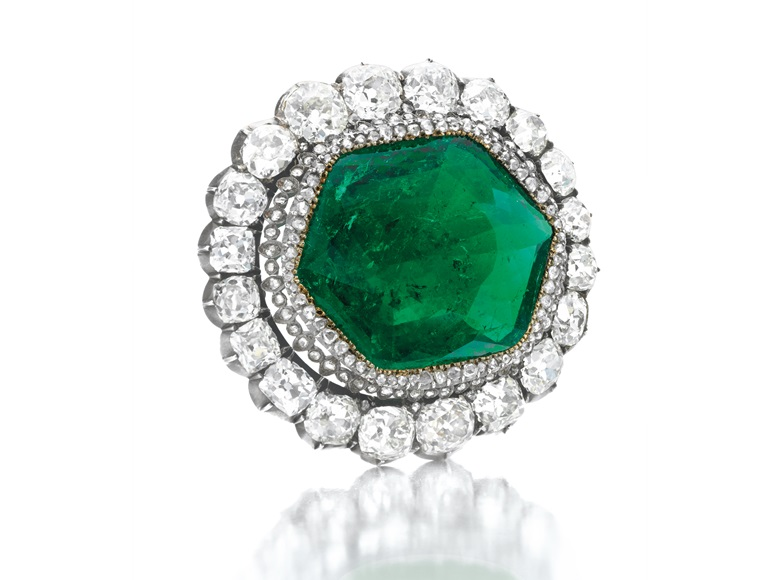 The Catherine the Great emerald brooch. Sold for $1,650,500 on 22 April 2010 at Christie's in New York