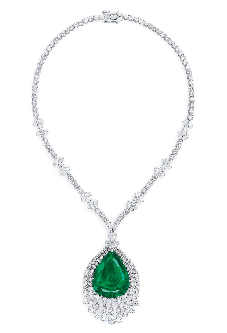 The Imperial Emerald of Grand Duchess Vladimir of Russia. Sold for CHF 4,335,000 on 15 May 2019 at Christie's in Geneva