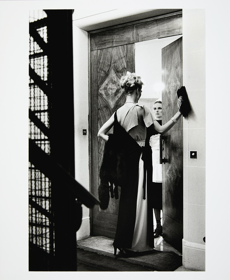 Helmut Newton (1920-2004), 16th Arrondissement, Paris, 1975. Gelatin silver print. Sheet 23⅞ x 19¾ in (60.6 x 50.2 cm). Estimate $8,000-12,000. Offered in Photographs on 2 October 2019 at Christie's in New York