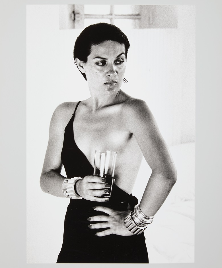 Helmut Newton (1920-2004), Paloma Picasso, Saint Tropez, 1973. Gelatin silver print. Sheet 23⅞ x 19⅞ in. Estimate $10,000-15,000. Offered in Photographs on 2 October 2019 at Christie's in New York