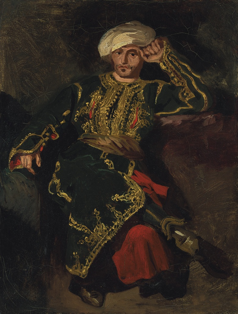 Eugène Delacroix (1798-1863) Seated Figure in Turkish Costume (Possibly Monsieur J. B. Pierret) circa 1825. Oil on canvas. 12¾ x 9½ in. (32.4 x 24.2 cm.) Estimate $800,000-1,200,000. Offered in European Art Part I on 28 October 2019 at Chrisites in New York