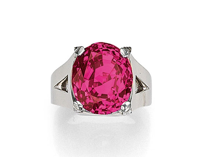 An exceptional ruby and diamond ring by Cartier. Sold for CHF 5,877,000 on 11 November 2014 at Christie's in Geneva