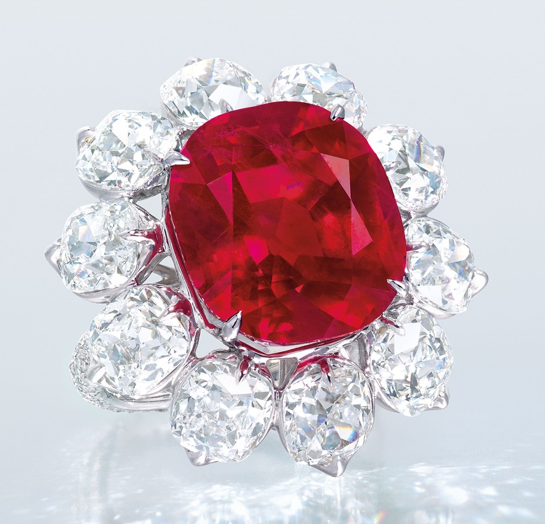 An extraordinary ruby and diamond ring. Sold for HK$141,800,000 on 1 December 2015 at Christie's in Hong Kong