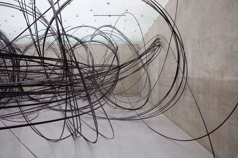 Antony Gormley, Clearing V, 2009. Approximately 11 km of 12.7 mm aluminium tube. Installation view, Kunsthaus Bregenz, Austria. © The Artist. Photo Markus Tretter. On view at Antony Gormley at the Royal Academy in London between 21 September and 3 December 2019