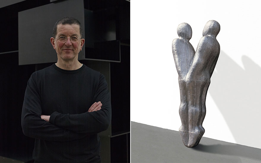 From left portrait of Antony Gormley, courtesy Stephen White. Antony Gormley, Growth, 1987. Lead, fibreglass, plaster and air. 23¾ x 31½ x 24½ in (60 x 80 x 62 cm). Estimate