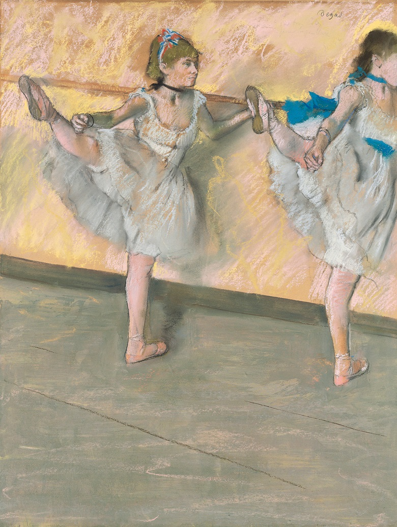 Edgar Degas (1834-1917), Danseuses à la barre, 1880. Pastel, gouache and charcoal on paper. 25⅞ x 19⅞ in (65.8 x 50.7 cm). Sold for £13,481,250 on 24 June 2008 at Christie's in London