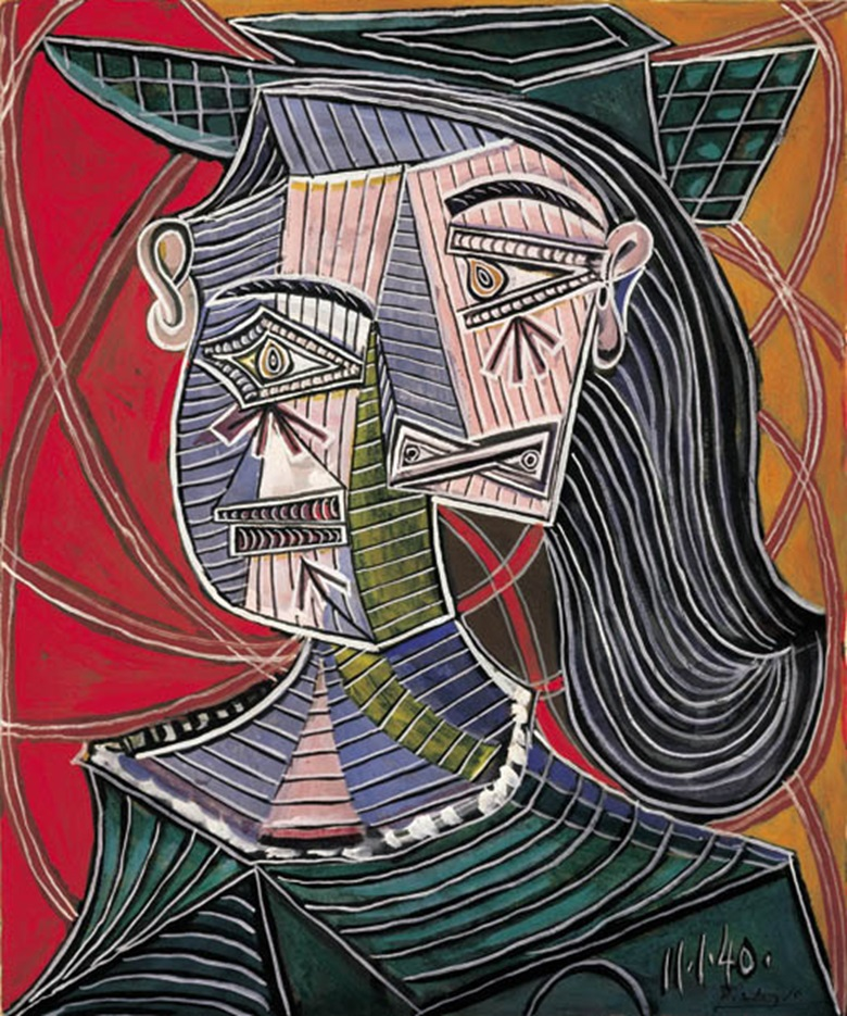 Pablo Picasso (1881-1973), Buste de femme, 1940. Gouache on paper laid down on paper. 18 x 15 in (46.3 x 38.1 cm). Sold for $3,966,000 on 9 May 2001 at Christie's in New York