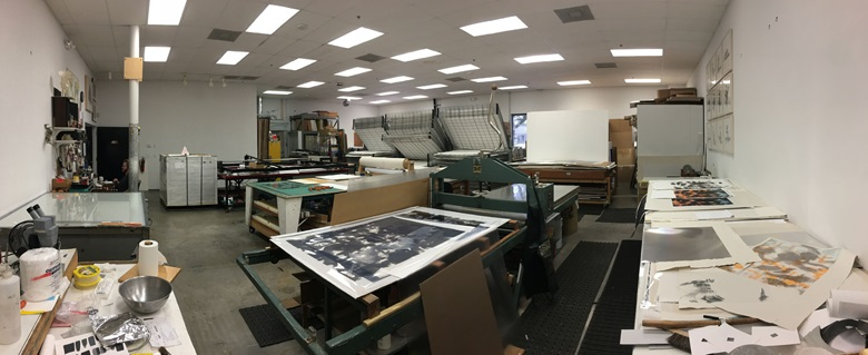 Graphicstudio's current lithograph printing set-up.
