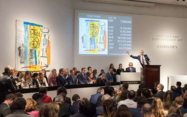 Basquiat work from 1982 leads  auction at Christies