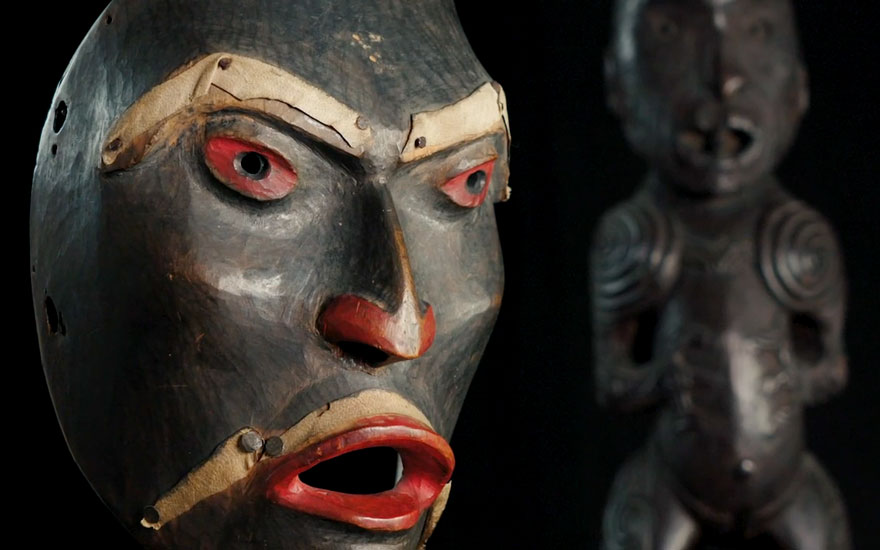 oceanic statue tribal masks