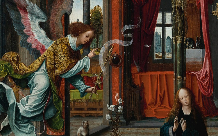 'The archangel Gabriel is flyi auction at Christies