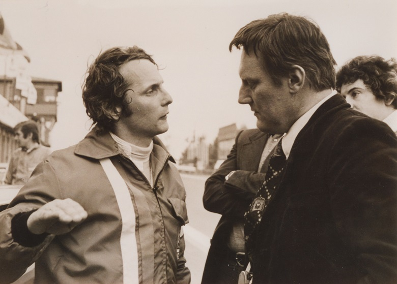 Bovensiepen with one of his race drivers for Alpina, the legendary Niki Lauda