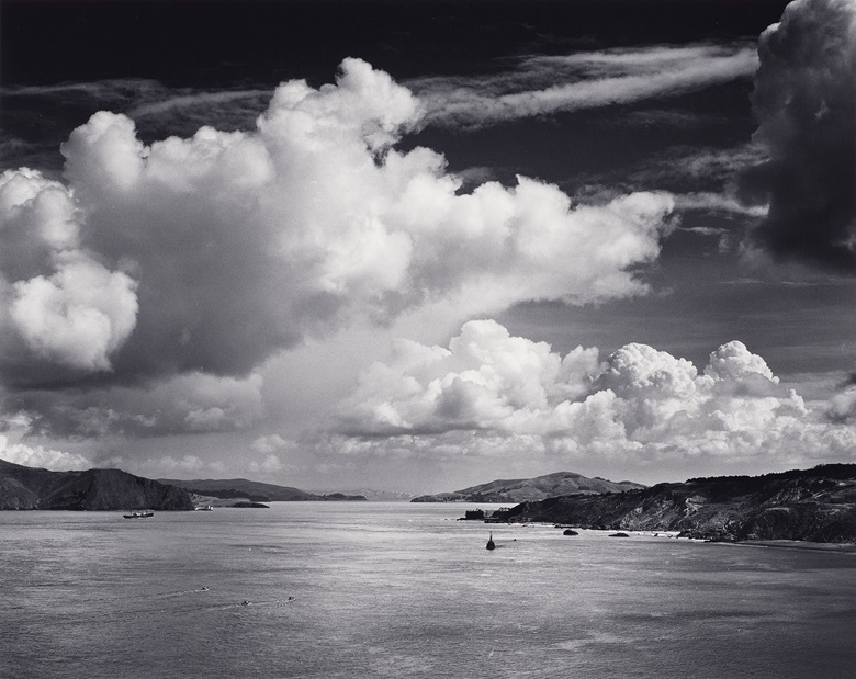 Ansel Adams (1902-1984), The Golden Gate before the Bridge, San Francisco, California, 1932. Gelatin silver print. Imagesheet 15¼ x 19⅛ in. (38.8 x 48.7 cm). Mount 21⅞ x 27⅞ in (55.5 x 70.7 cm). Estimate $8,000-12,000. Offered in Ansel Adams and the American West Photographs from the Center for Creative Photography on 10 December 2019 at Christie's in New York. Artwork © The Ansel Adams