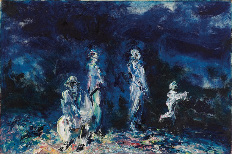 Jack Butler Yeats (1871-1957), The Enfolding Light, 1947. Oil on canvas. 24 x 36 in (60.96 x 91.44 cm). Estimate €500,000-700,000. Offered in the Ernie O'Malley Collection in association with Christie's on 25 November at Whytes in Dublin