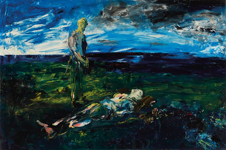 Jack Butler Yeats (1871-1957), Death For Only One, 1937. Oil on canvas. 24 x 36 in (60.96 x 91.44cm). Estimate €400,000-600,000. Offered in the Ernie O'Malley Collection in association with Christie's on 25 November at Whytes in Dublin