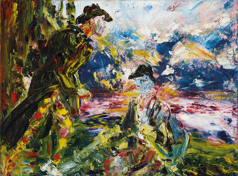 Jack Butler Yeats (1871-1957), The Fighting Dawn, 1945. Oil on canvas. 18 x 24 in (45.72 x 60.96 cm). Estimate €250,000-350,000. Offered in the Ernie O'Malley Collection in association with Christie's on 25 November at Whytes in Dublin