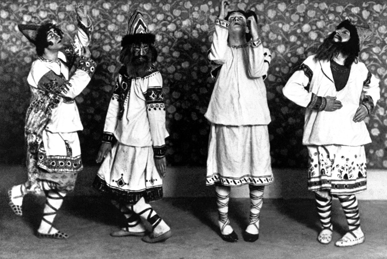 Nicholas Roerich designed the sets and costumes for the 1913 Ballets Russes production of The Rite of Spring (Le Sacre du printemps) at the Théâtre des Champs-Élysées in Paris, 1913. Photo Keystone-FranceGamma-Keystone via Getty Images