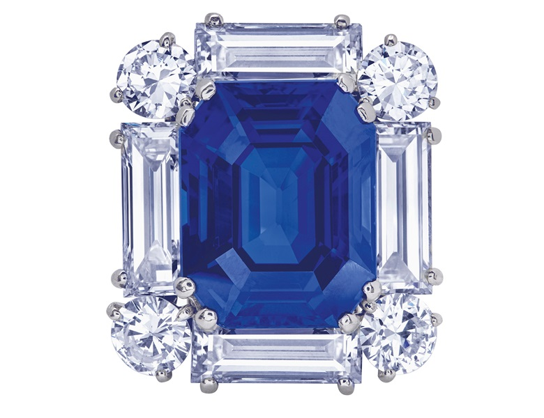 Exceptional sapphire and diamond brooch, Cartier, SSEF, 2019, report no. 106791 39.194 carats, Ceylon, no indications of heating, royal blue, appendix letter. Estimate CHF 500,000-700,000. Offered in Magnificent Jewels  on 12 November 2019 at Christie's in Geneva