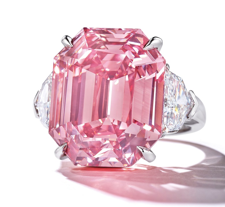 The Pink Legacy. Sold for CHF 50,375,000 on 13 November 2018 at Christie's in Geneva
