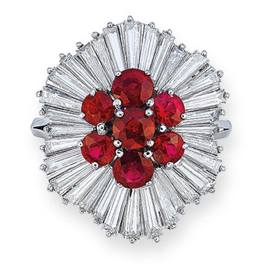A ruby and diamond ring, Harry Winston. Estimate HK$80,000-120,000. Offered in Hong Kong Magnificent Jewels on 26 November 2019 at Christie's in Hong Kong
