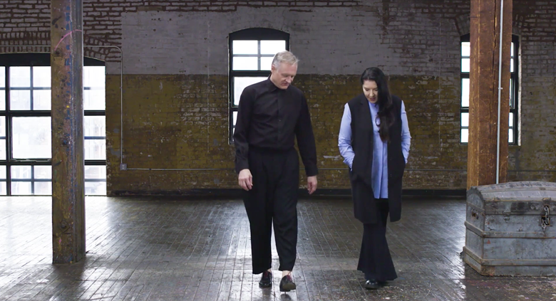 Marina Abramović and Todd Eckert talking to Christie's about making The Life