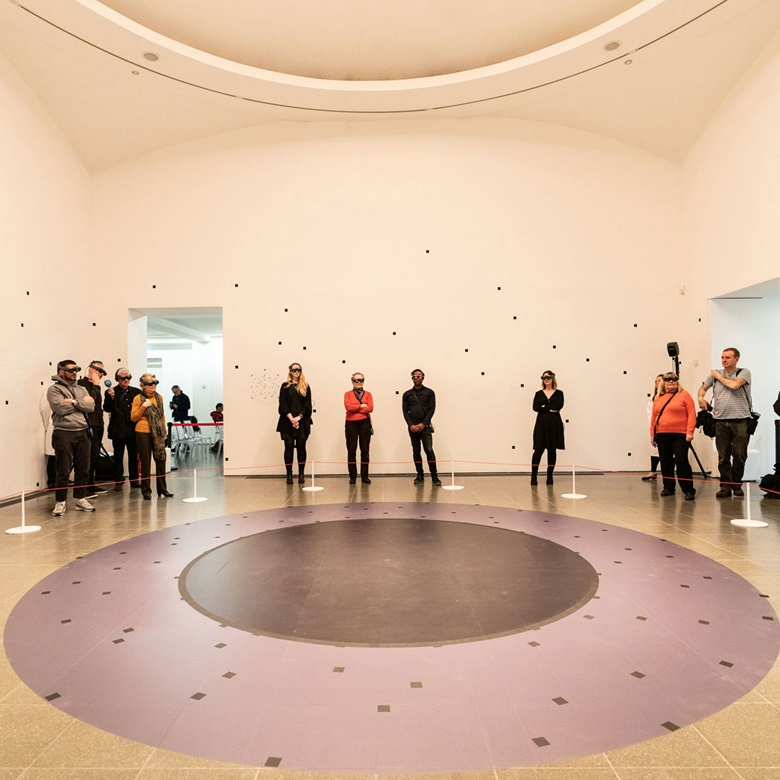 'A hundred years beyond... there will be people that will see her walk into the room and will feel that sense of connection, of human experience,' says Todd Eckert. Marina Abramović, The Life (installation view, 19-24 February 2019, Serpentine Galleries). Photograph © 2019 Harry Richards Photography