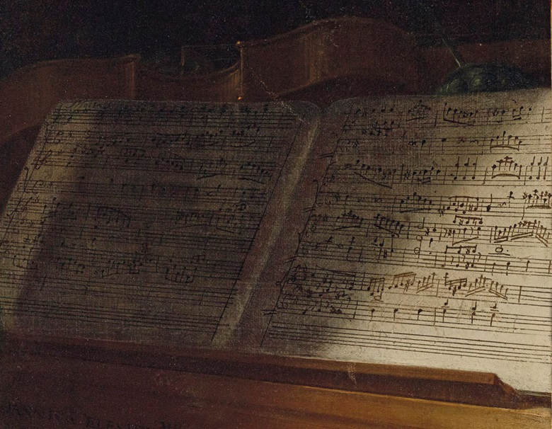 Opinion is divided over whether the score in front of Mozart was his own composition