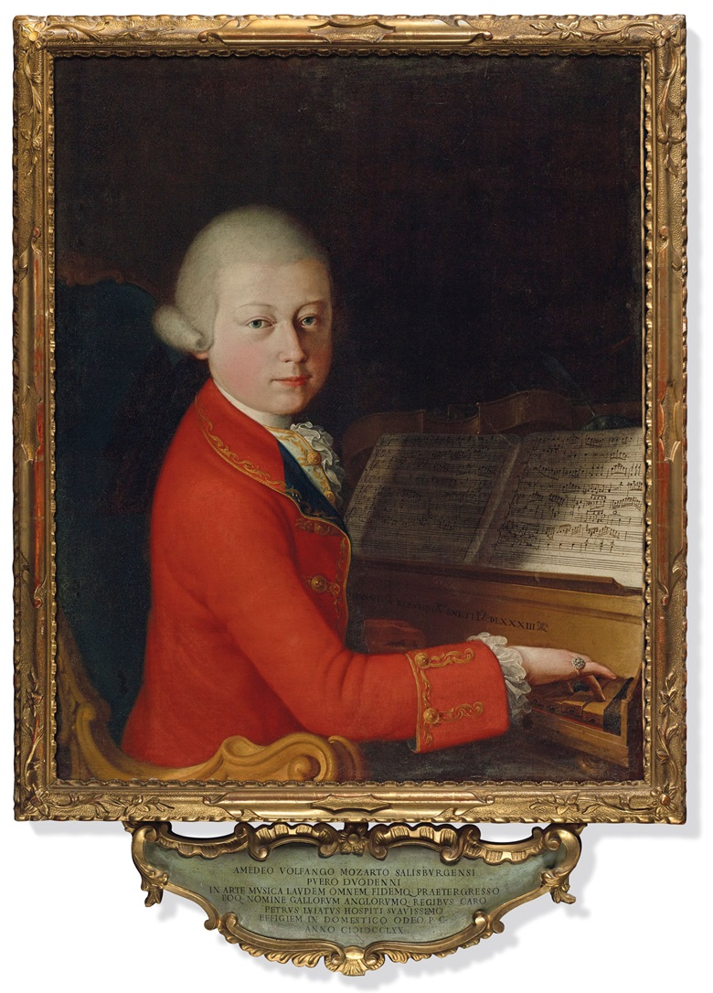 School of Verona, attributed to Giambettino Cignaroli (1706-1770), Portrait of Wolfgang Amadeus Mozart at the Age of 13 in Verona, 1770. Oil on canvas, 27½ x 22½ in (70 x 57 cm). Sold for €4,031,500 on 27 November 2019 at Christie's in Paris