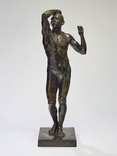 Auguste Rodin (1840-1917), The Age of Bronze, medium size, first cast of the model, conceived in 1875-77; this version was realised in this size in 1903-1904; this version cast in 1904. Height 104.4  cm (41⅛  in). Sold for €3,577,500 on 27 November in Paris