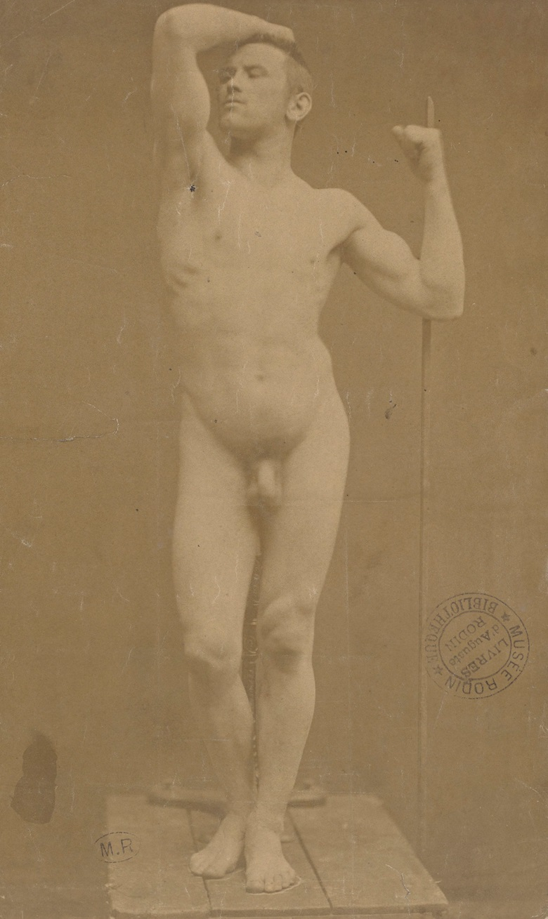 Auguste Neyt, model for the Age of Bronze, April 1877. Photograph by Gaudenzio Macroni. Paris, Musée Rodin. © Musée Rodin